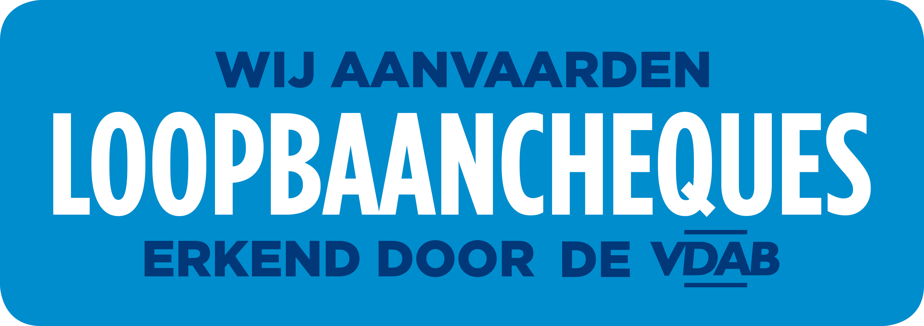 Loopbaancheque label